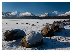 Frozen Derwentwater, Lake District, UK